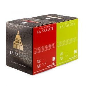 2 Bag in Box Merlot Igt e Pinot Bianco Igt 5 lt – La Salute