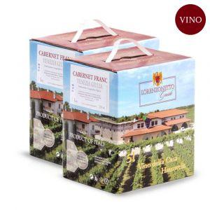 Confezione 2 Bag in Box Cabernet Franc Igt Venezia Giulia 5 litri – Lorenzonetto Friuli Venezia Giulia