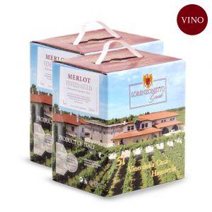 Confezione 2 Bag in Box Merlot Igt Venezia Giulia 5 litri – Lorenzonetto Friuli Venezia Giulia
