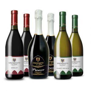 Prosecco Millesimato, Merlot e Pinot Grigio – 6 bt – Lorenzonetto
