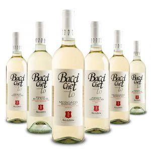 Confezione 6 bottiglie Pinot Bianco Moscato e Pinot Grigio – Baccichetto