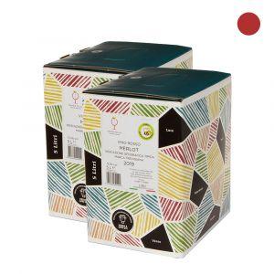 Confezione 2 Bag in Box Merlot Igt Marca Trevigiana – 5lt – Enotria Tellus