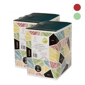 Confezione 2 Bag in Box Mix Bianco e Rosso – 5lt – Enotria Tellus