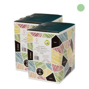Confezione 2 Bag in Box Pinot Bianco Igt Marca Trevigiana – 5lt – Enotria Tellus