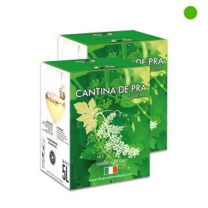 """Confezione 2 Bag in Box Chardonnay del Veneto Igt """"Agata"""" 5 Litri - Cantina De Pra"""