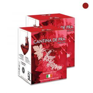 """Confezione 2 Bag in Box Pinot Nero del Veneto Igt """"Rubino"""" 5 Litri - Cantina De Pra"""