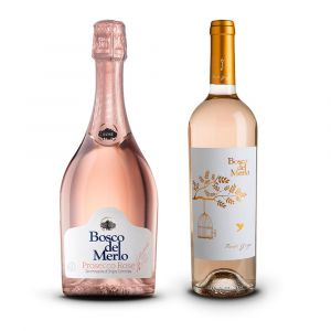 Prosecco Rosé + Pinot Grigio Rosé – Bosco del Merlo