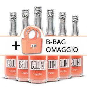 Confezione 6 bottiglie Bellini + B-Bag Omaggio – Canella