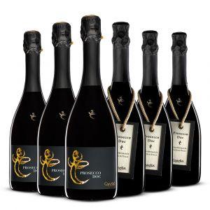 Confezione 6 bottiglie Mix Prosecco Doc – Canella