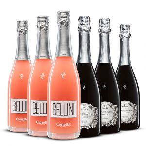 Confezione 6 bottiglie Mix Bellini e Prosecco Docg Brut – Canella