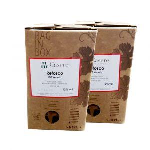 2 Bag in Box Refosco Igt Veneto 5 lt – Casere