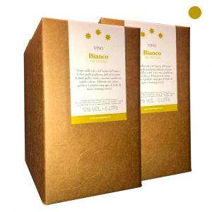Confezione 2 Bag in Box Vino Bianco da Tavola - 5 litri - Cerulli Spinozzi