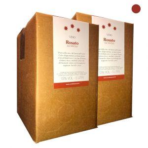 Confezione 2 Bag in Box Vino Rosato da Tavola - 5 litri - Cerulli Spinozzi