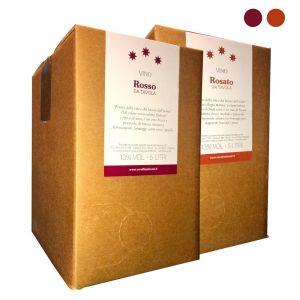 Confezione 2 Bag in Box Vino Rosso e Rosato da Tavola - 5 litri - Cerulli Spinozzi