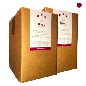 Confezione 2 Bag in Box Vino Rosso da Tavola - 5 litri - Cerulli Spinozzi