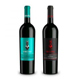 Confezione 2 bottiglie Lugana e Chianti – Scuderia Italia