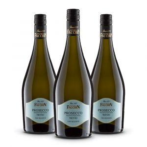 Confezione 3 bottiglie Prosecco frizzante Doc Treviso – Antonio Facchin