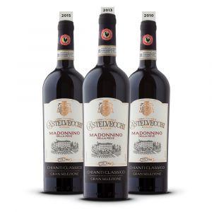 Confezione 3 bottiglie Verticale Madoninno 2015-2013-2010 – Premiata Fattoria di Castelvecchi in Chianti
