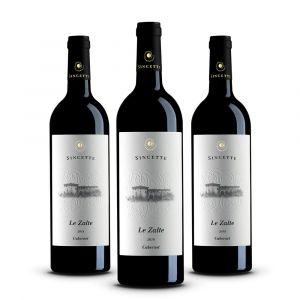 Confezione 3 bottiglie di Cabernet - Le Sincette