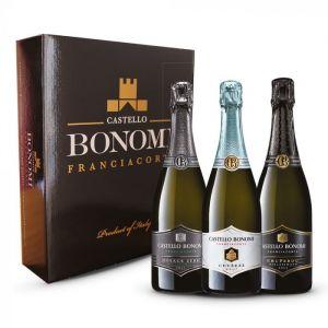 Confezione 3 bottiglie Degustazione Franciacorta Astuccio - Castello Bonomi