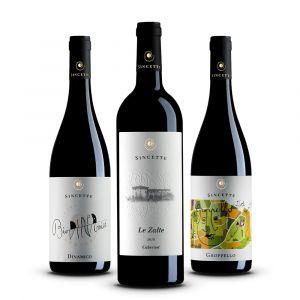 Confezione 3 bottiglie di Rossi - Le Sincette