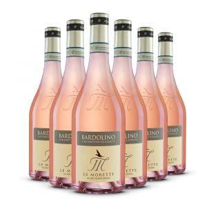 Confezione 6 bottiglie Bardolino Classico Chiaretto Doc - Le Morette