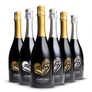 Confezione 6 bottiglie Oro e Argento - BellCuore