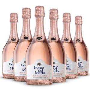 Confezione 6 bottiglie Prosecco Rosé Brut –  Bosco del Merlo