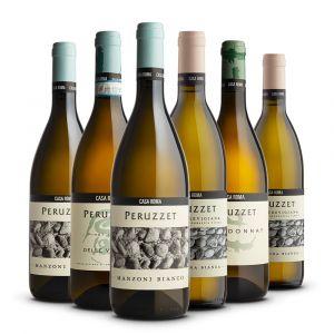 Confezione 6 bottiglie Bianchi Degustazione - Casa Roma Peruzzet