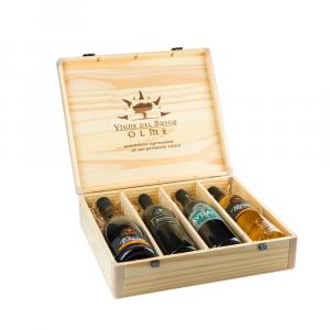 Confezione 4 bottiglie Selezione Bauletto in legno massiccio- Vigne del Bosco