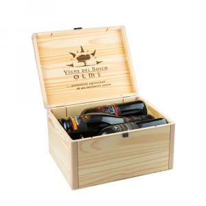 Confezione 6 bottiglie Selezione Bauletto in legno massiccio- Vigne del Bosco
