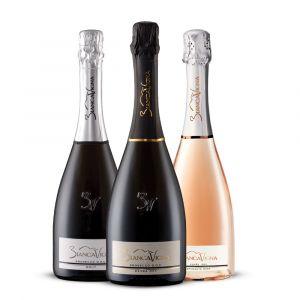 Confezione 3 Bottiglie Prosecco DOC e Spumante Rosa - BiancaVigna