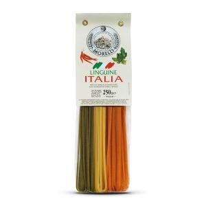 Linguine Italia con Peperoncino e Spinaci – 4x250gr – Pastificio Morelli