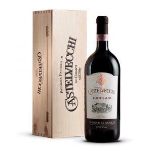 Lodolaio Chianti Classico Riserva Docg Magnum 2015 con scatola Legno - Premiata Fattoria di Castelvecchi