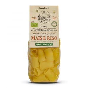Paccheri al Mais e Riso BIO senza glutine – 4x250gr – Pastificio Morelli