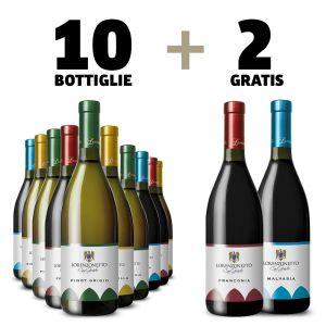 Offerta 12 bottiglie + 2 – vini fermi – Lorenzonetto