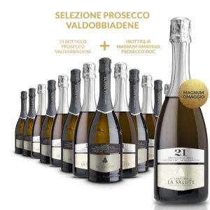 Confezione 15 bottiglie Prosecco + 1 Magnum Omaggio – La Salute