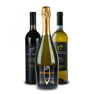 Confezione 3 bottiglie Prosecco DOC Chardonnay DOC Merlot DOC – Vintinove