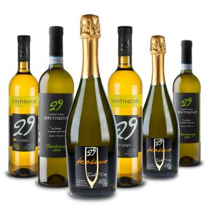 Confezione 6 bottiglie Presecco DOC Pinot Grigio DOC Chardonnay DOC – Vintinove