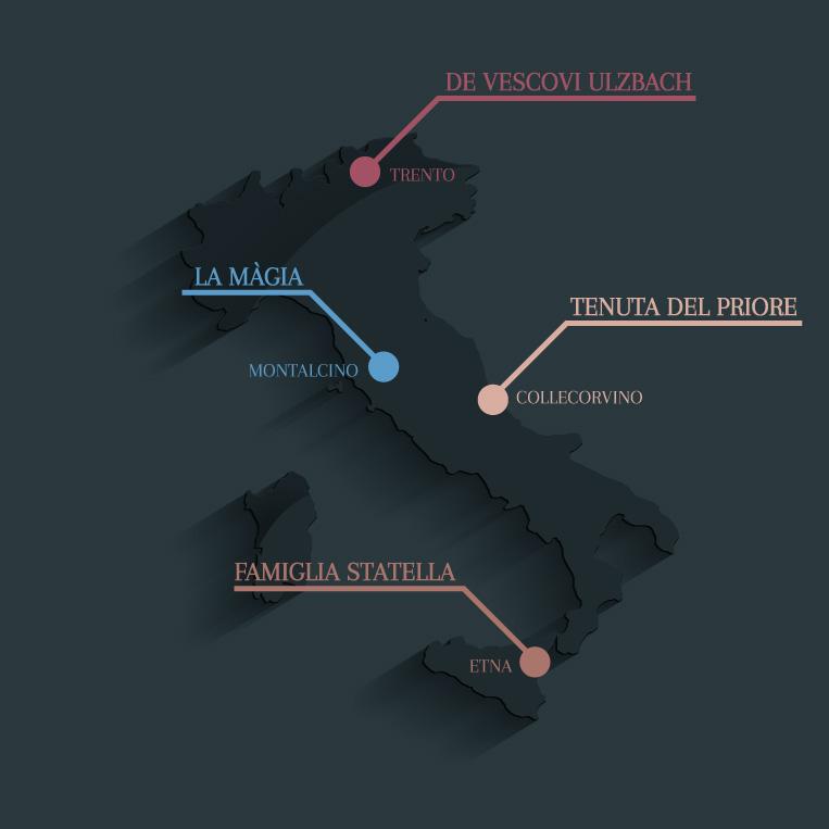 Mapa Le Tenute Stilvino